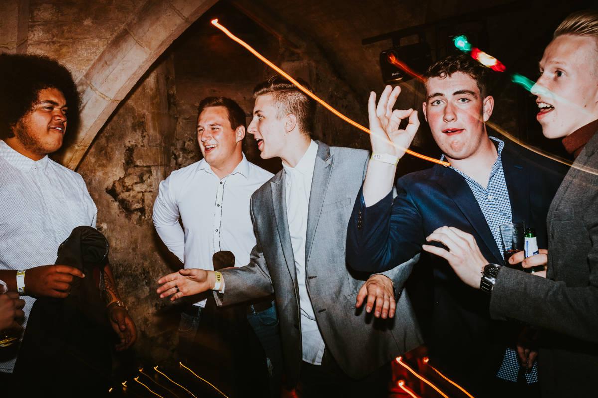Photographing dance floor light trails